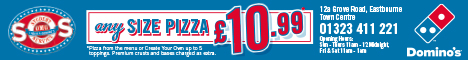 Dominos Eastbourne pizza only 10.99