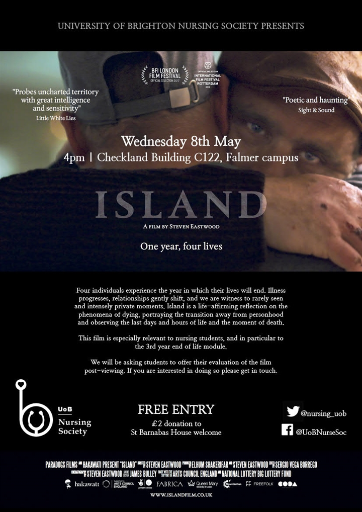 "A screening of ""ISLAND"", a film by Steven Eastwood"