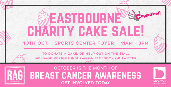 Eastbourne Charity Cake Sale - Breast Cancer Awareness!