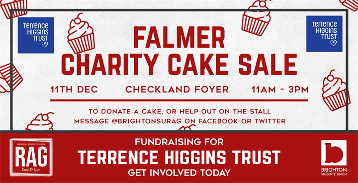 Falmer Charity Cake Sale - HIV & AIDS Awareness!