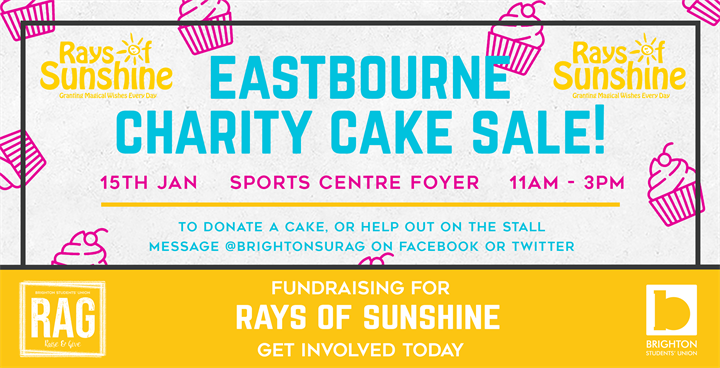 Eastbourne Charity Cake Sale - Rays of Sunshine