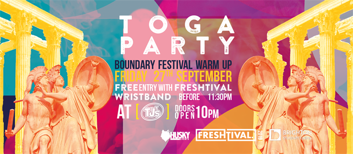 Toga Party at TJ's Eastbourne - Official Freshtival 2019