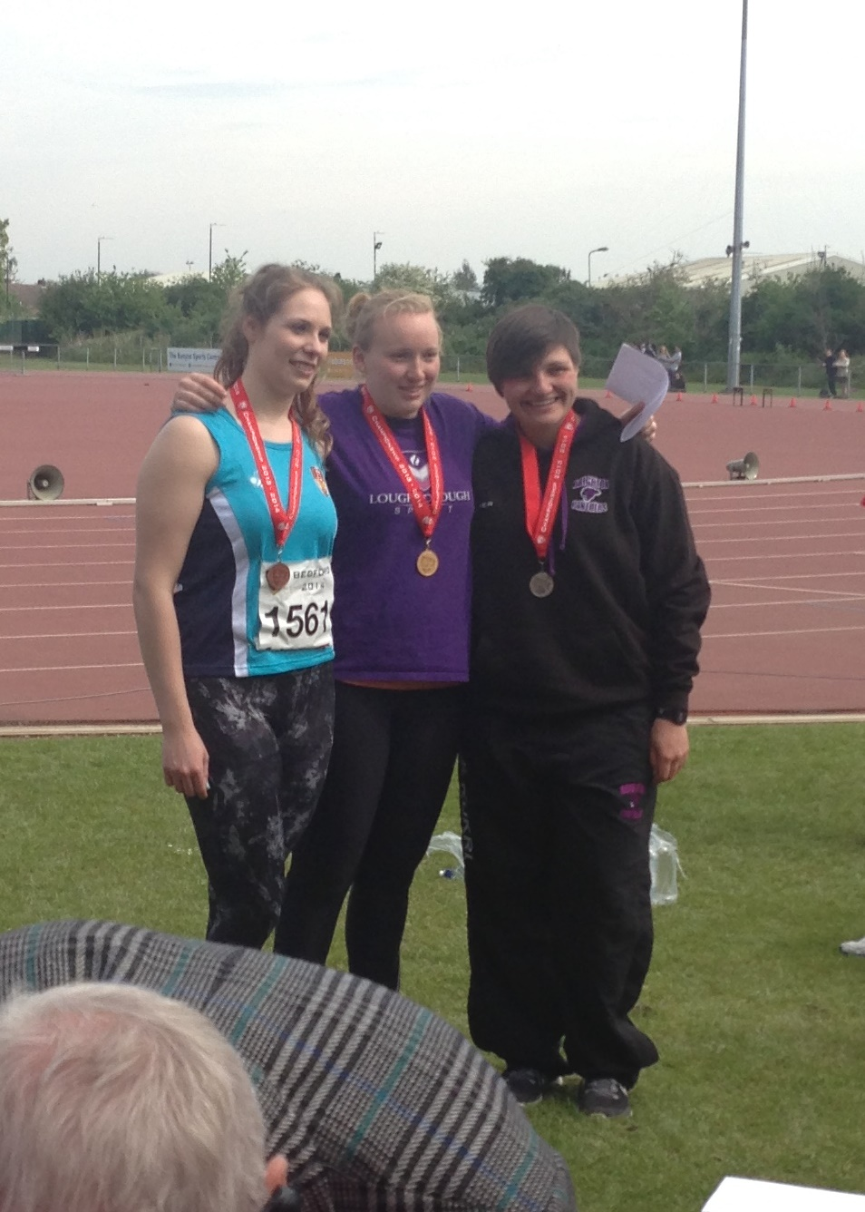 Grace Jenkins wins silver in the women s discus throw.  May 2013