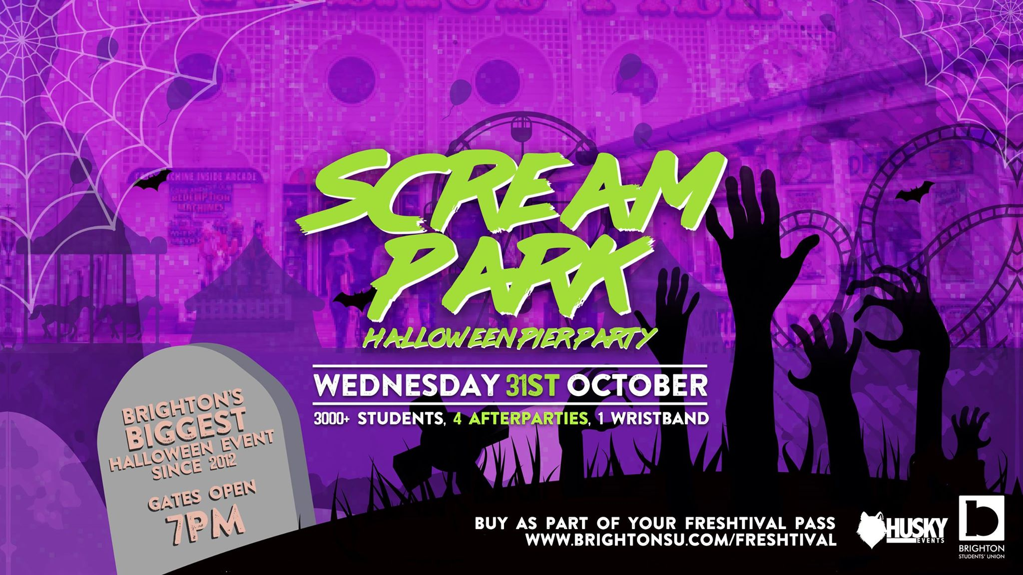 Halloween tickets available for 31st of October!