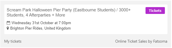 Eastbourne Tickets